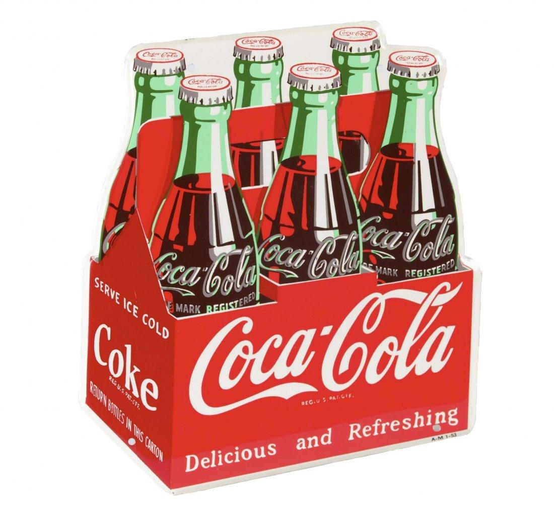 Coca Cola Diecut Figural 6-Pack Sign