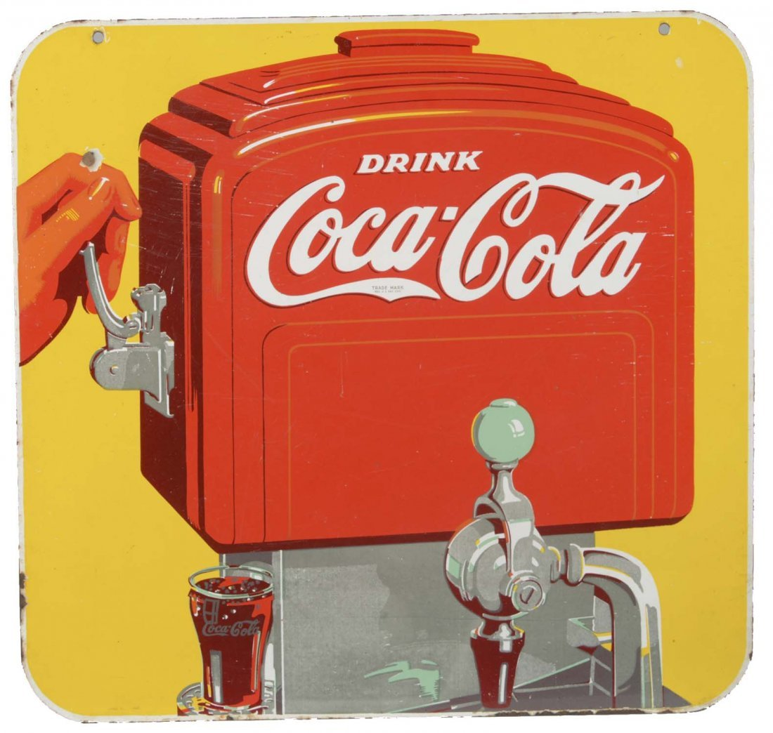 Double-Sided Coca-Cola Porcelain Sign