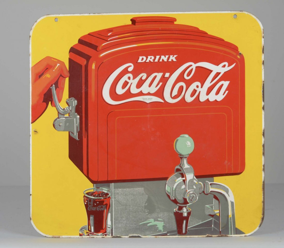 Double-Sided Coca-Cola Porcelain Sign - 2
