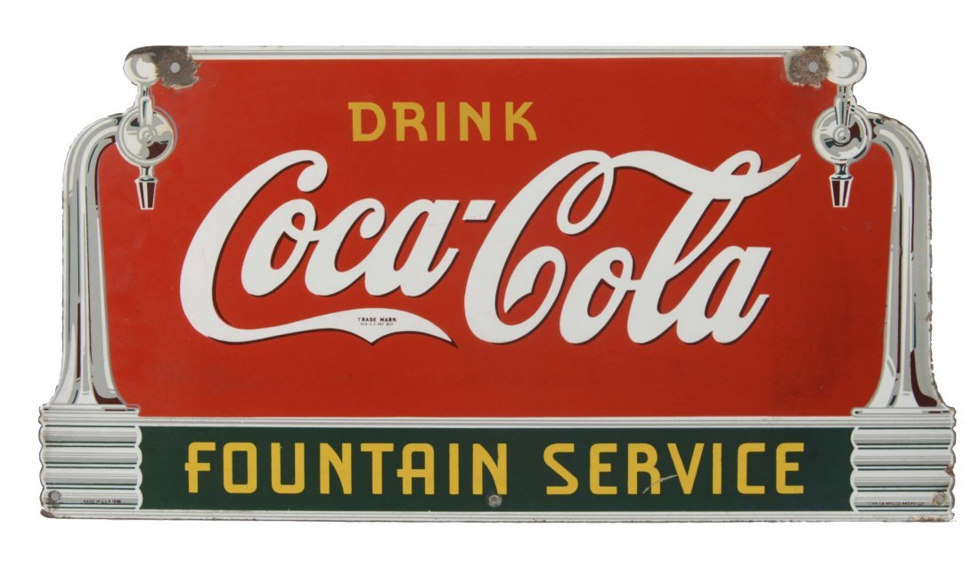 Coca-Cola Porcelain Sign