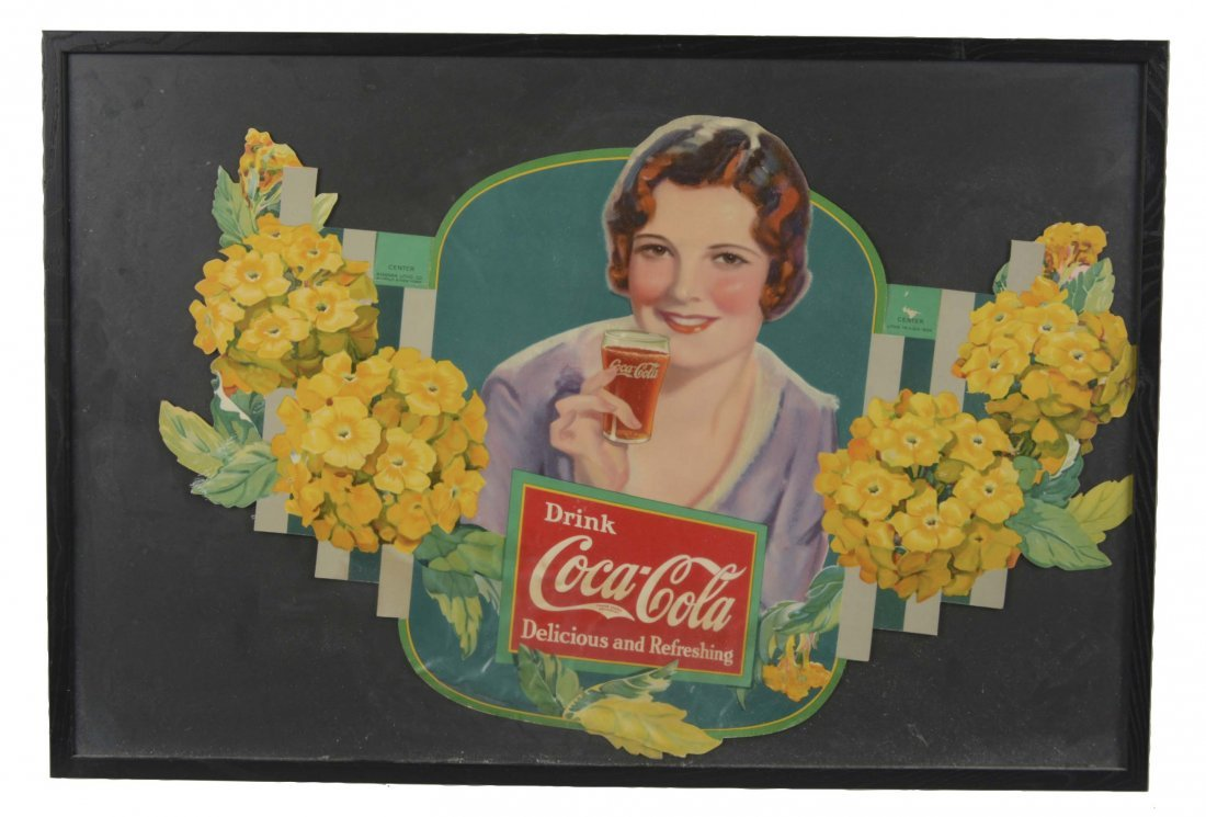 Framed Coca-Cola Festoon Centerpiece