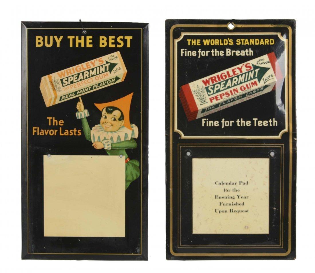 Lot Of 2: Wrigley's Gum Advertising Calendars