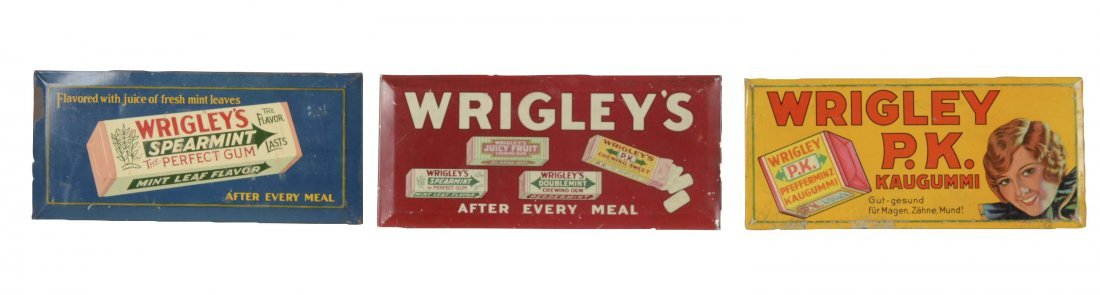 Lot Of 3: Wrigley's Chewing Gum Signs