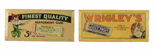 Lot Of 2 Wrigleys Chewing Gum Signs