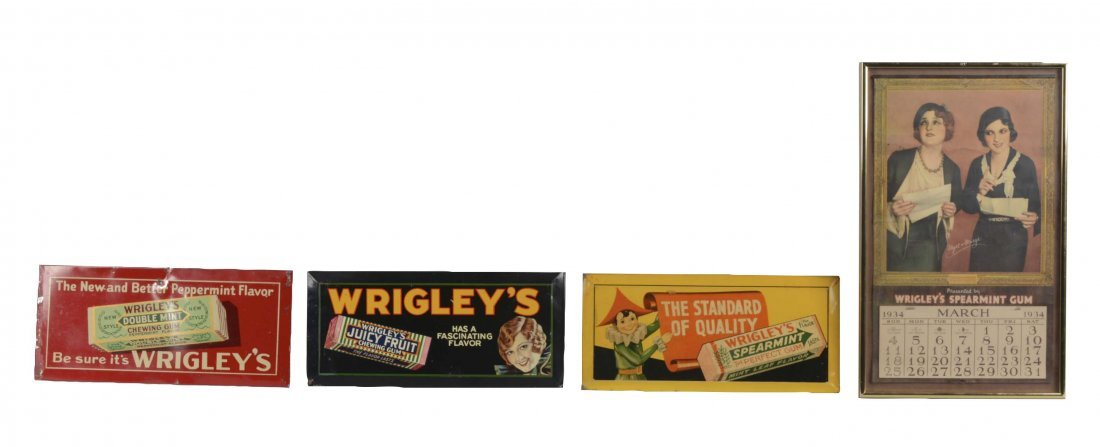 Lot Of 4: Wrigley's Gum Advertisements
