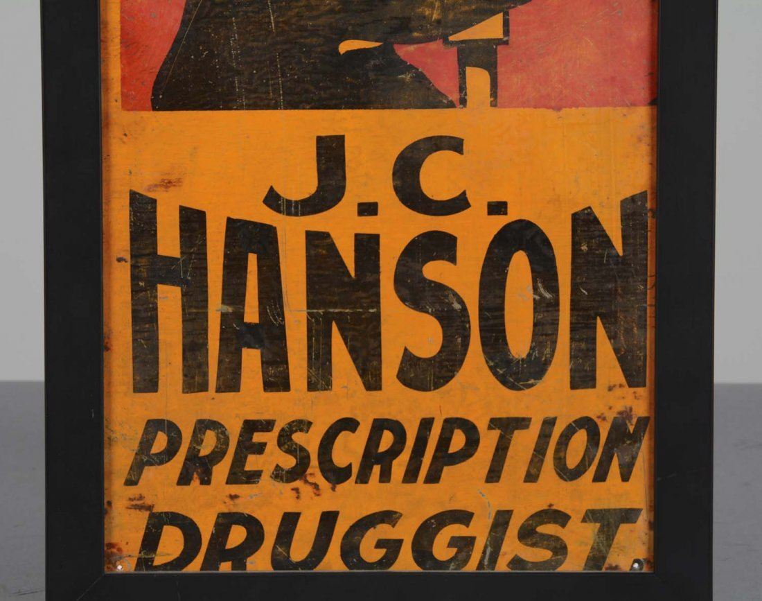 Ithaca Sign Works J.C. Hanson Prescription Druggist Tin - 4