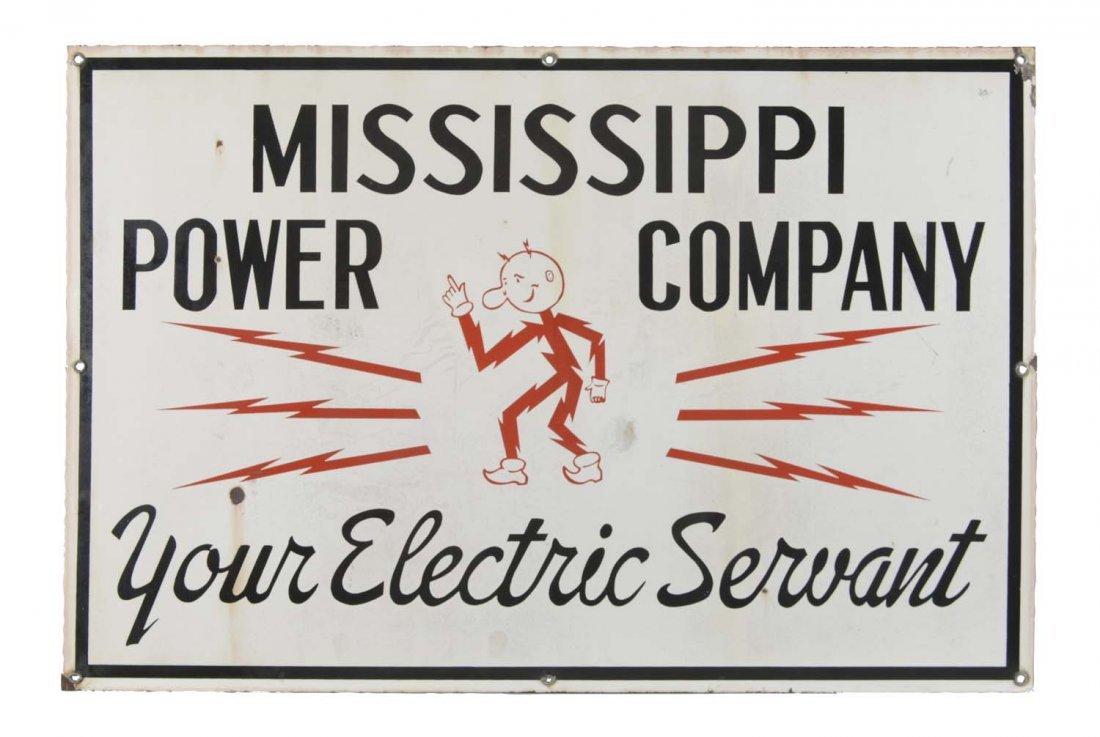Mississippi Power Company Porcelain Sign