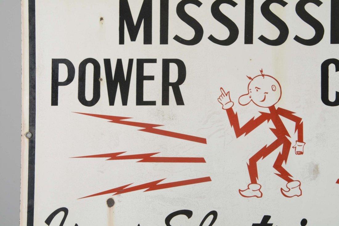 Mississippi Power Company Porcelain Sign - 2