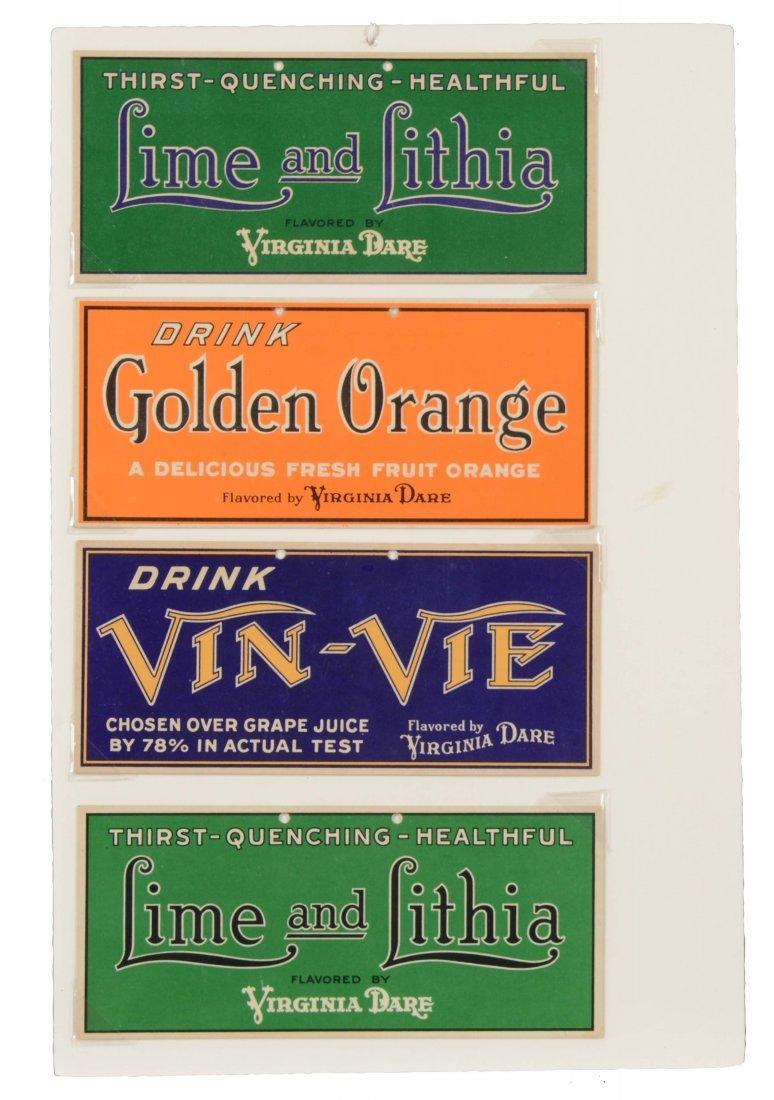 Virginia Dare Cardboard Soda Advertising Signs