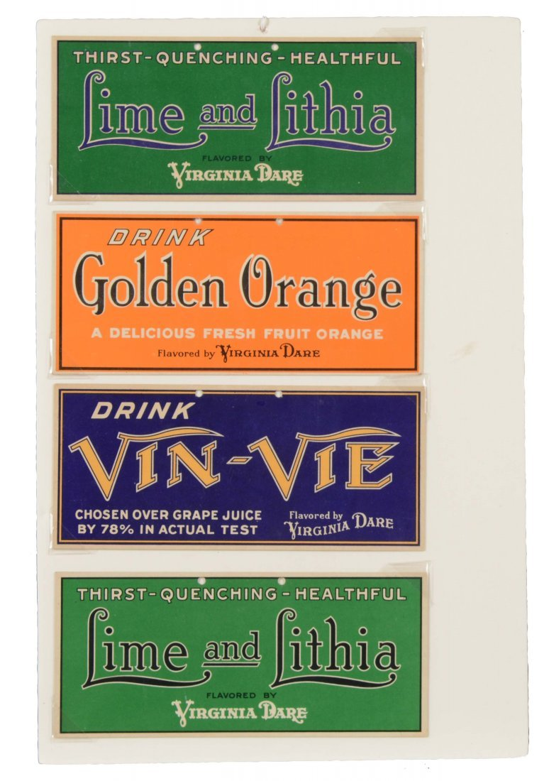Virginia Dare Cardboard Soda Advertising Signs