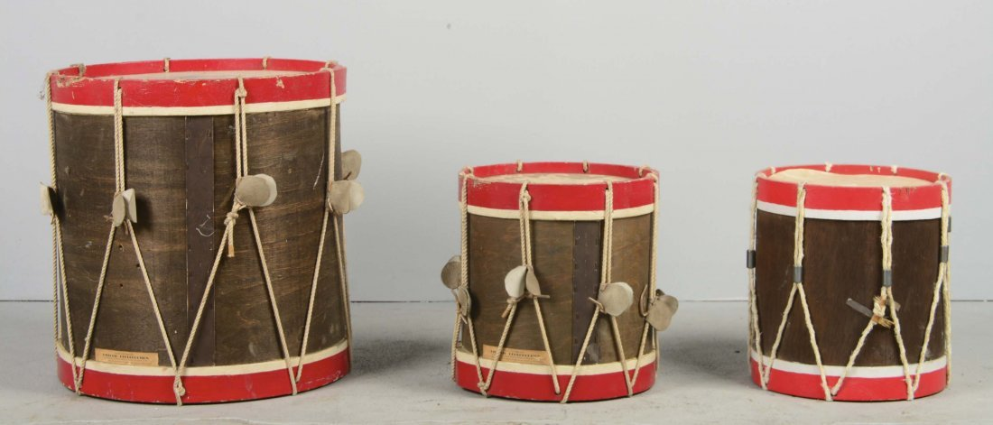Lot Of 3: 18th Century Reproduction Drums - 2