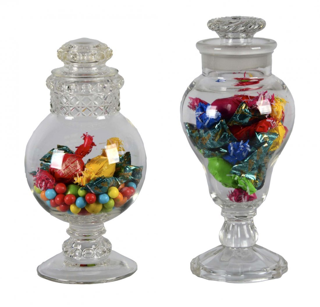 Lot Of 2: Glass Apothecary Jars