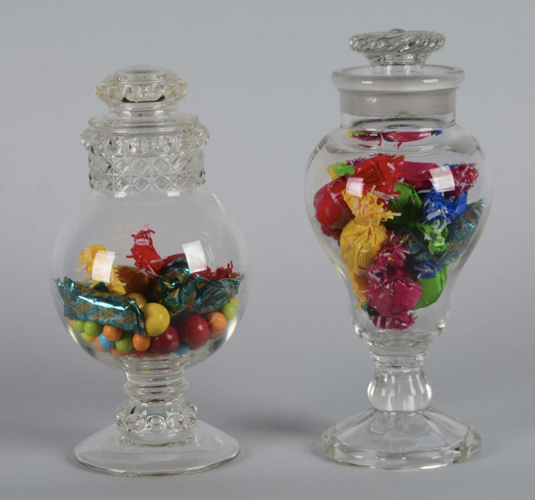 Lot Of 2: Glass Apothecary Jars - 2