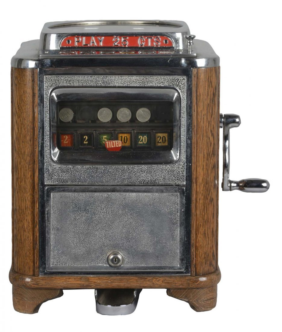 **25¢ Caille Aristocrat Counter Roulette Machine