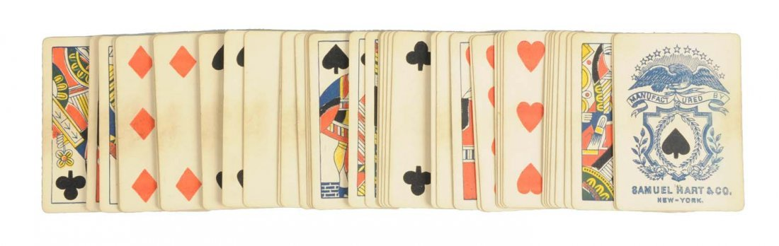 Early Samuel Hart & Co. Playing Cards In Box