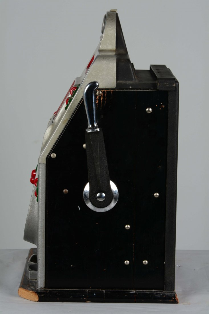 **25¢ Mills Black Cherry Half-Top Slot Machine - 3