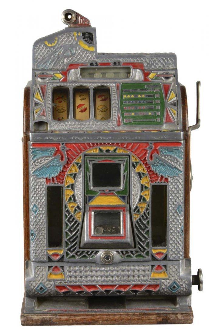**10¢ Jennings Silent Victoria Peacock Slot Machine