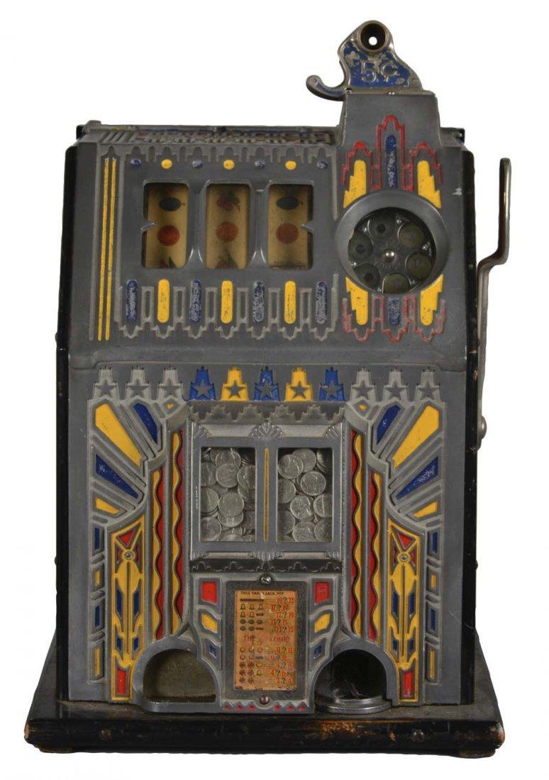 """**5¢ Pace Comet """"Fancy Front"""" Slot Machine"""