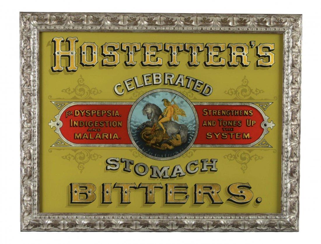 Replica Hostetter's Reverse On Glass Advertisement
