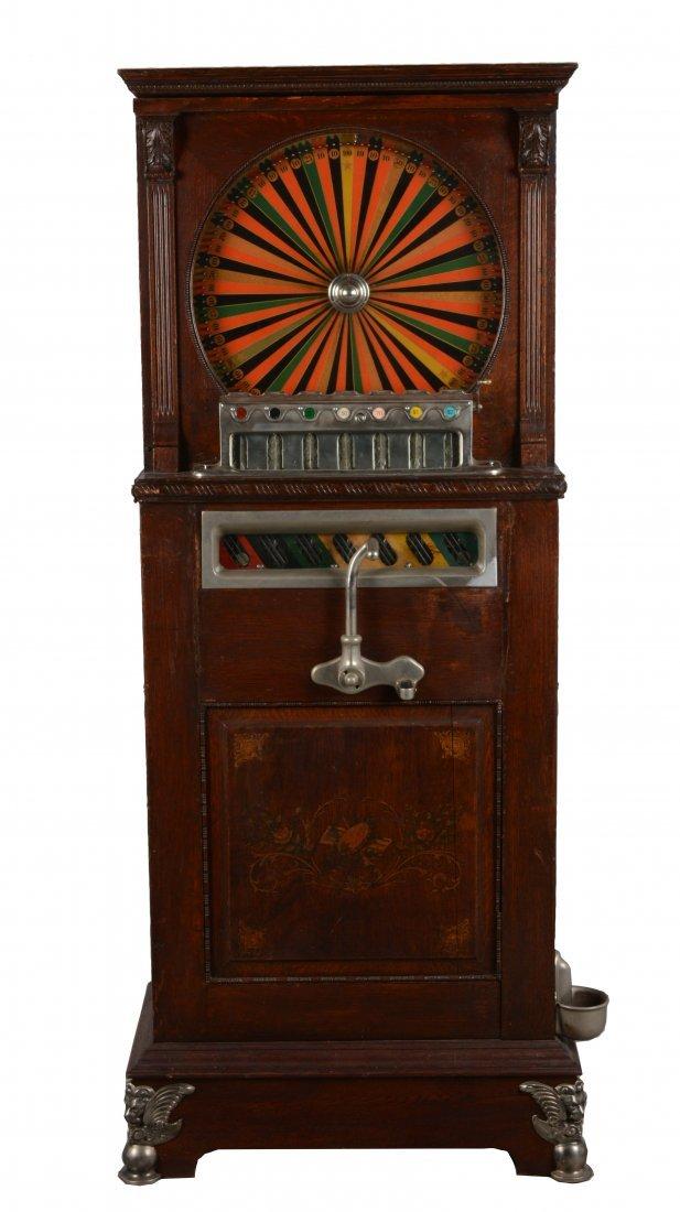 **5¢ Berger Oom-Paul Upright Floor Wheel Slot Machine