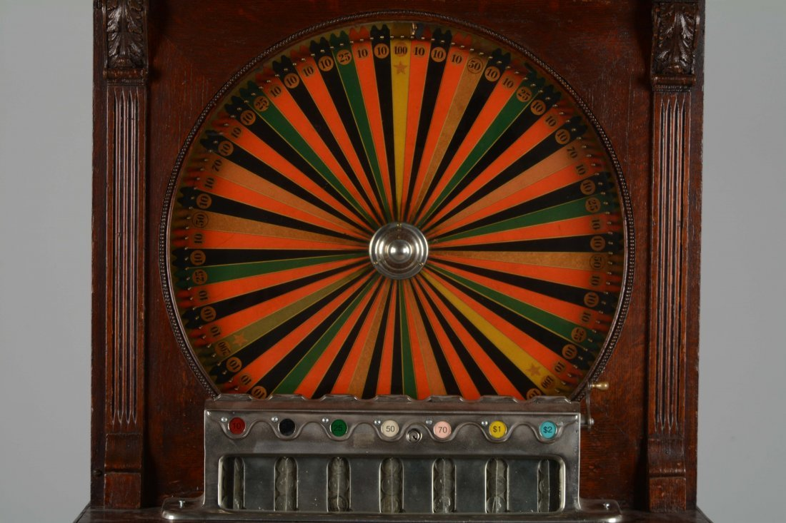**5¢ Berger Oom-Paul Upright Floor Wheel Slot Machine - 2