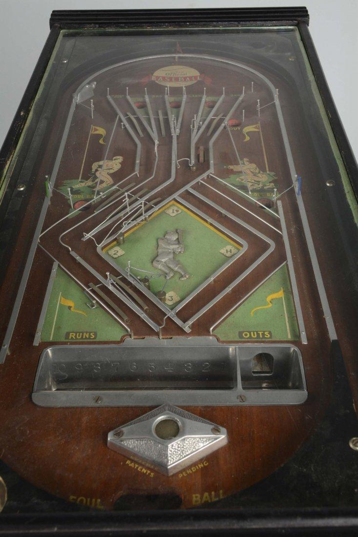 1¢ Genco Official Baseball Pinball Game - 2