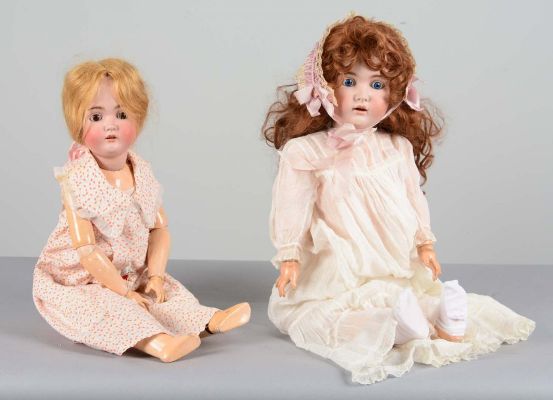 Lot Of 2: German Bisque and Composite Dolls