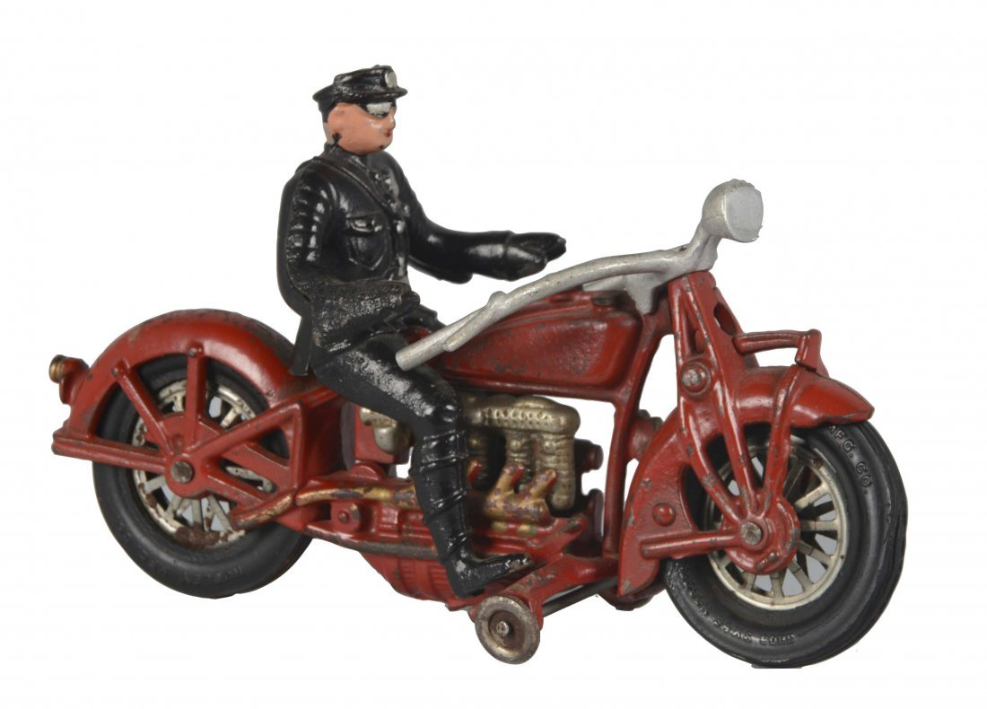 Large Hubley Indian Motorcycle Toy