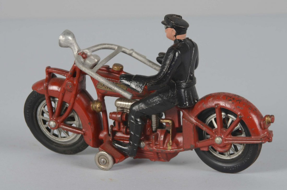 Large Hubley Indian Motorcycle Toy - 2