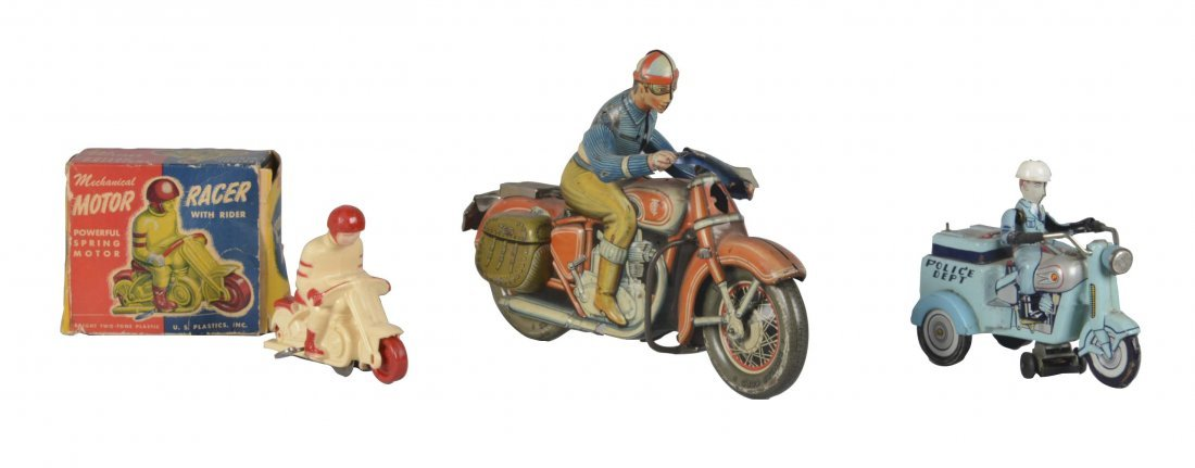 Lot Of 3: Interesting Motorcycle Toys