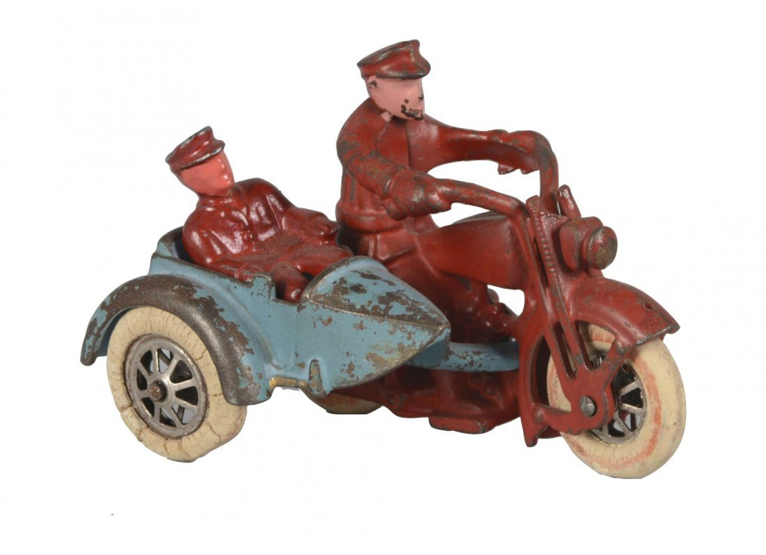 Hubley Harley Motorcycle With Sidecar