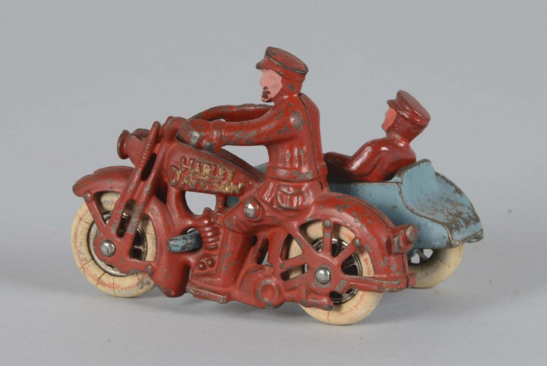 Hubley Harley Motorcycle With Sidecar - 2