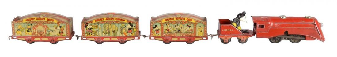 Electric Lionel Mickey Mouse Circus Train