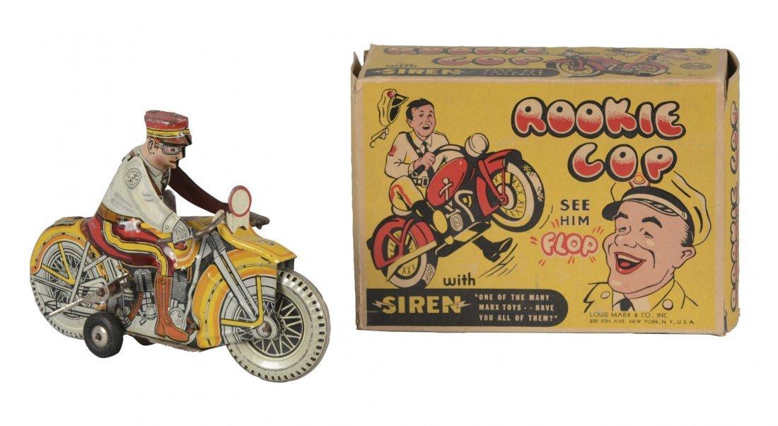 Marx Rookie Cop Tin Litho Toy With Original Box