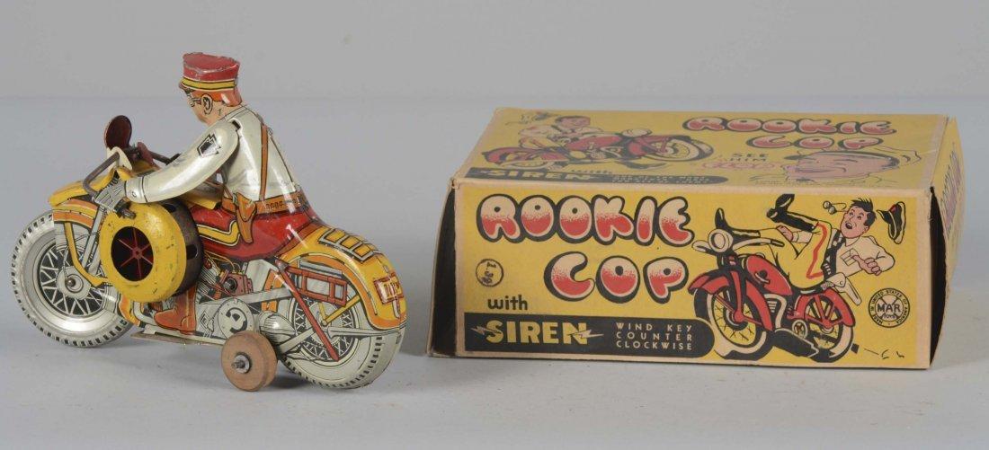 Marx Rookie Cop Tin Litho Toy With Original Box - 2