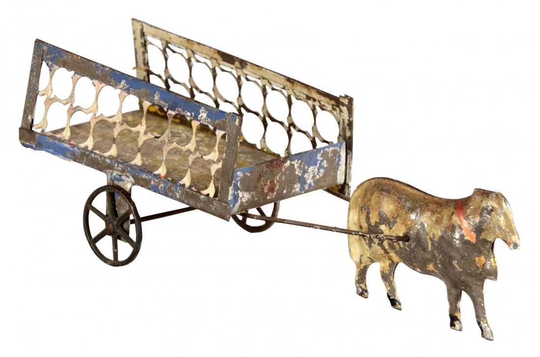 Ox And Cart Tin Toy