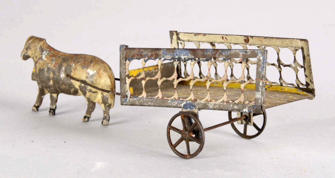 Ox And Cart Tin Toy - 2