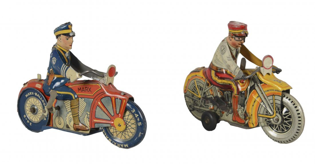 Lot Of 2: Marx Motorcycle Toys