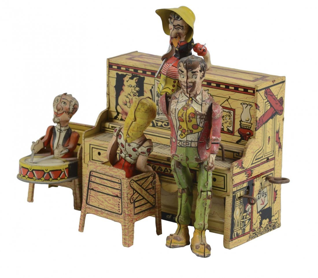 Unique Art Lil' Abner Band Tin Litho Toy