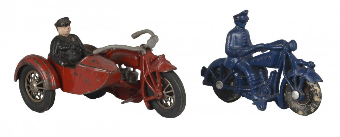 Lot Of 2: Cast Iron Motorcycle Toys