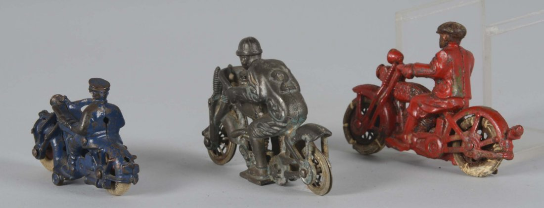 Lot Of 3: Cast Iron Motorcycle Toys - 2