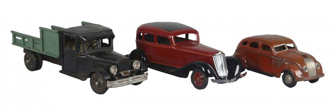 Lot Of 3: Vintage Pressed Steel Vehicles