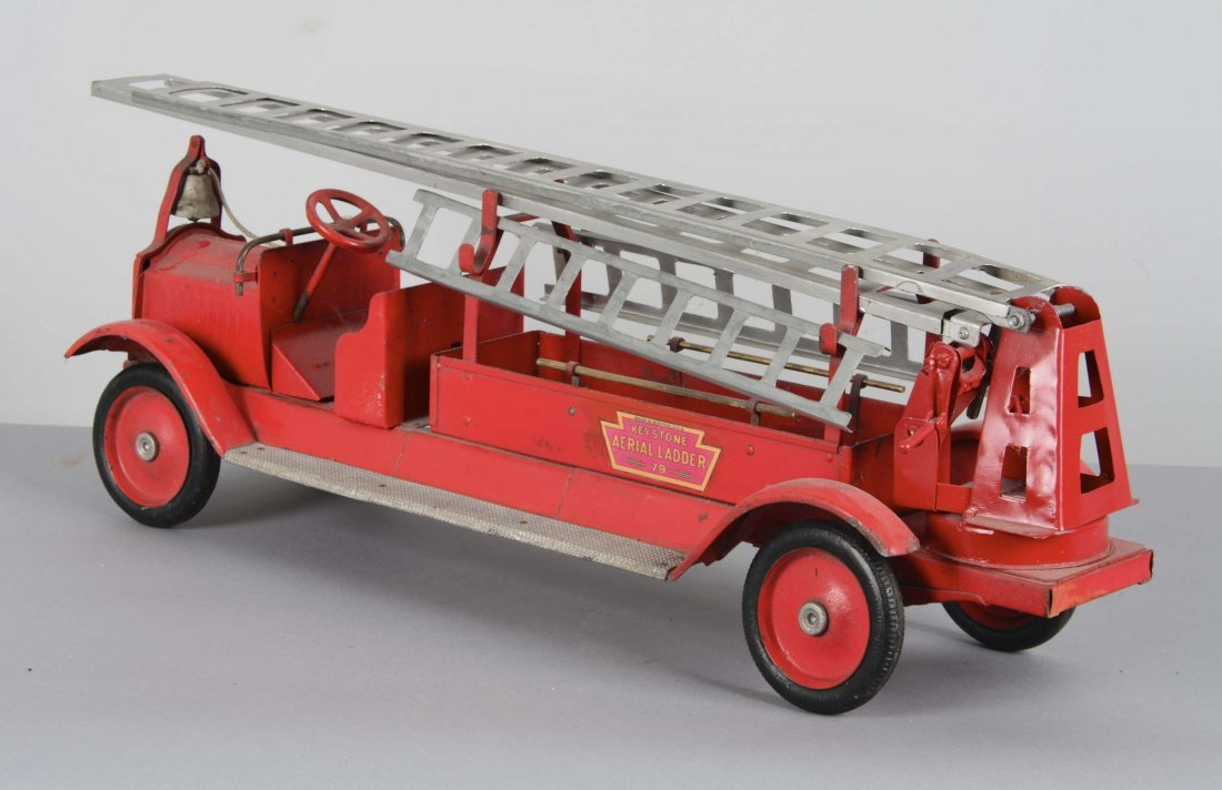 Keystone Pressed Steel Aerial Ladder Fire Truck - 2