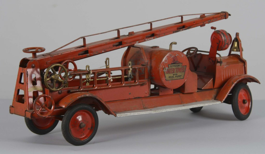 Keystone Pressed Steel Water Tower Firetruck - 2
