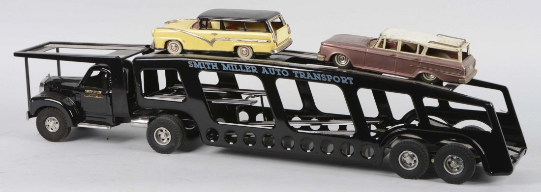 Smith Miller Pressed Steel Auto Transport Toy - 2