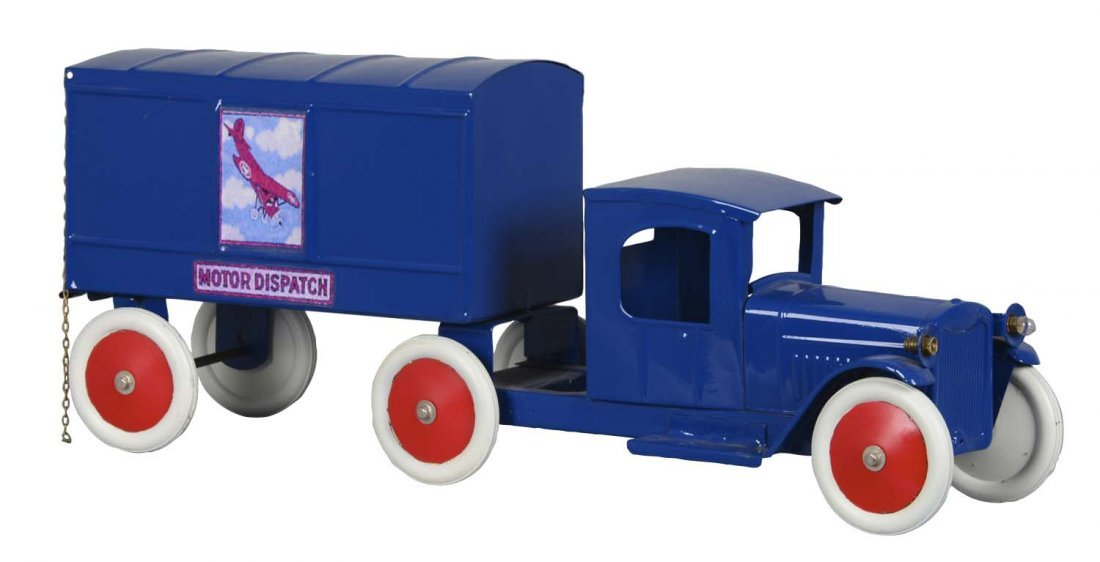 Structo Pressed Steel Motor Dispatch Truck