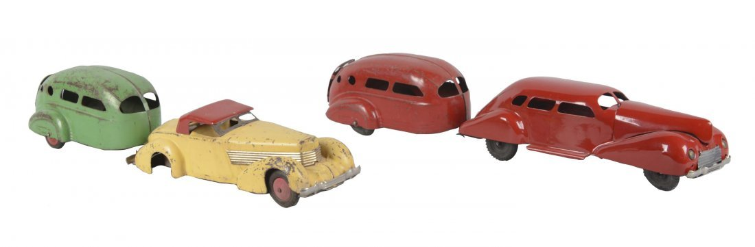 Lot Of 4: Wyandotte Cars With Trailers
