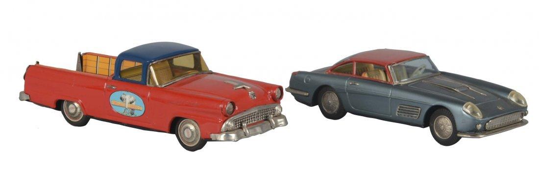Lot Of 2: Bandai Japanese Tin Cars
