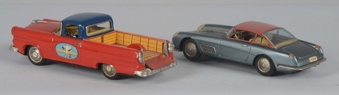 Lot Of 2: Bandai Japanese Tin Cars - 2