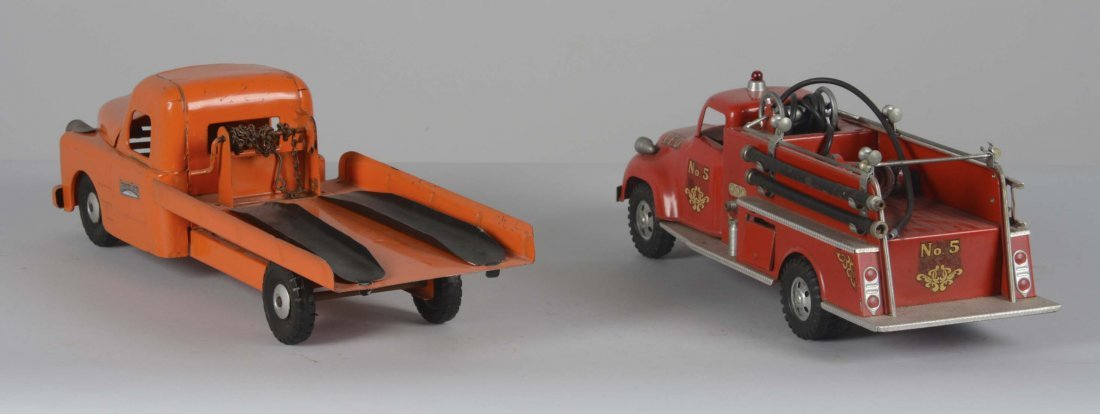 Lot Of 2: Tonka Fire Truck and Structo Auto Transporter - 2